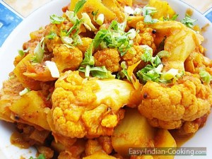 Aloo Gobi – Potato Cauliflower – Masala Curry