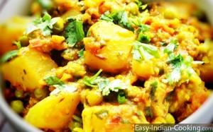 Aloo Mattar – Potato Peas Curry