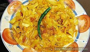 Cabbage Carrot Stir Fry Sabzi