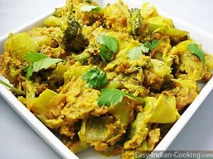 Capsicum Broccoli Besan Stir Fry Sabzi