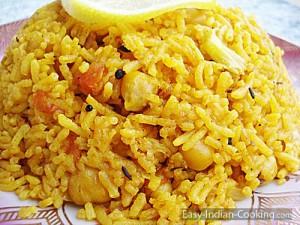 Chana Chickpeas Chole Pulao Biryani
