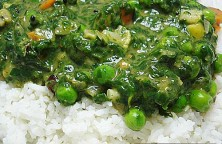 Spinach Palak Vegetable Curry Indo-German style